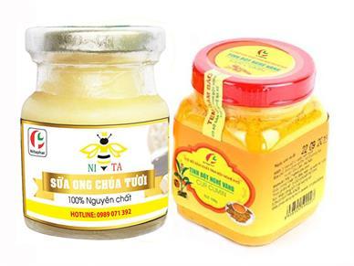 Combo Tinh Bột Nghệ Vàng và Sữa Ong Chúa Tươi Nguyên Chất