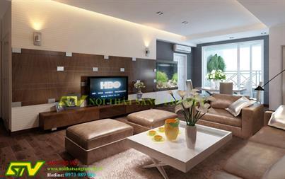 Thiết kế nội thất chung cư Royal City nhà anh Tiến