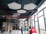 Thi công trần tiêu âm Viettel - Tầng 2 tòa nhà The Light