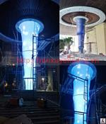 Thi công trần và cột xuyên sáng tại  Nha Trang Horizol Hotel