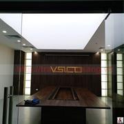 Thi công trần xuyên sáng tại phòng họp công ty Vsico