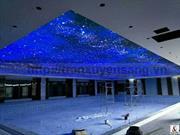 Thi công trần xuyên sáng bể bơi trong nhà tại TTTM Quảng Ninh