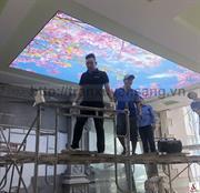 Thi công trần xuyên sáng tại Đồng Tháp - Biệt thự Lâm Villa