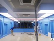 Thi công trần xuyên sáng tại Salon Tailor - 277 Nguyễn Xiển - Thanh Xuân
