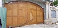 Lắp đặt motor cổng âm sàn cho cánh gỗ nặng 600Kg