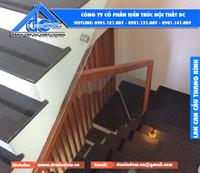 DC WINDOW thi công lan can cầu thang, ban công kính cường lực công trình anh Sơn - Nguyễn Công Trứ, Đà Nẵng