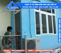 DCWINDOW thi công cửa nhựa lõi thép công trình anh Tú - Hải Phòng