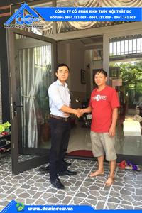 DCWINDOW  bàn giao công trình anh Thịnh _ khu phố chợ Túy Loan _ Hòa Vang, Đà Nẵng