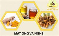 Tác dụng mật ong tinh bột nghệ ?