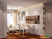 Thiết kế nội thất chung cư Green Stars căn 102m2
