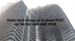 Danh sách chung cư vi phạm PCCC tại Hà Nội mới nhất 2019