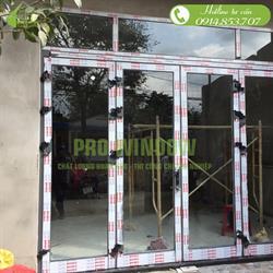 Cửa nhôm xingfa công trình anh Khánh chị Uyên, Hòa Tiến, Đà Nẵng