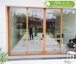 Cửa nhôm xingfa vân gỗ, công trình Cty V Member, Căn A8, Ocean estates Đà Nẵng