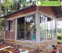 Công trình cửa nhôm xingfa Bungalow Mr Thiệp, Bình Quý, Thăng Bình, Quảng Nam