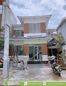Cửa nhôm xingfa nhà chị Lệ, Lê Trọng Tấn, Đà Nẵng