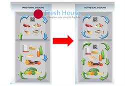 Ưu điểm tủ lạnh Nhật bãi có 2 dàn lạnh độc lập