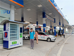  Máy bán hàng tự động TPU tại cửa hàng xăng dầu số 31 đường Láng- Hà Nội