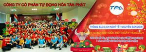 TPA thông báo lịch nghỉ tết âm lịch Tân Sửu năm 2021
