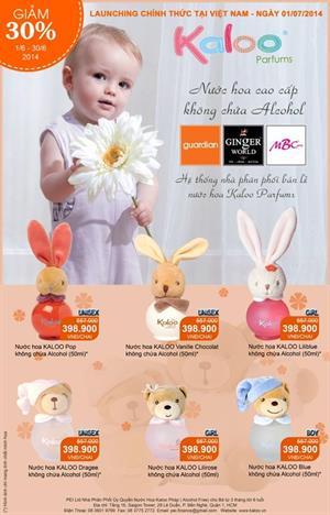 Giảm giá 30% nước hoa Kaloo Parfums_Chính thức LAUNCHING ngày 1/7/2014