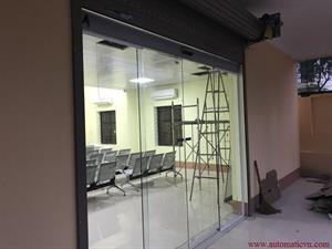 Bàn giao cửa kính tự động trụ sở ủy ban huyện Phú Bình - Thái Nguyên