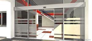 Bản vẽ kỹ thuật cửa tự động 2 cánh sử dụng kính cường lực ( Temper)