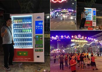 Lần đầu tiện thành phố Cao Bằng xuất hiện máy bán hàng tự động TPU