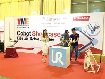 TPA HỖ TRỢ VÀ CUNG CẤP TRẠM DEMO ROBOT CHO UNIVERSAL ROBOT TẠI TRIỂN LÃM VME 2018