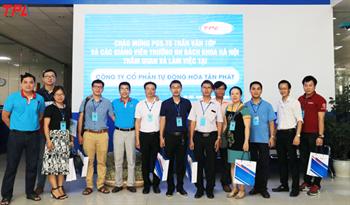TPA vinh dự đón đoàn khách đại diện Trường Đại Học Bách Khoa Hà Nội đến thăm quan công ty