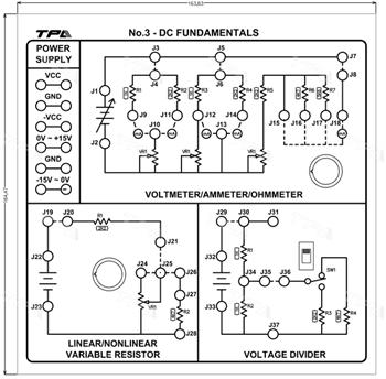 Module thí nghiệm cơ bản về mạch điện DC 3 - TPAD.Q0213
