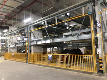 Hệ thống bảo vệ 3 lớp riêng biệt khi nâng hạ của hệ thống đỗ xe xếp hình