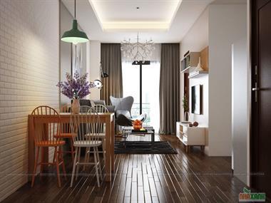 Thiết kế nội thất chung cư Imperia Garden x07 80,4m2 - căn 2 phòng ngủ