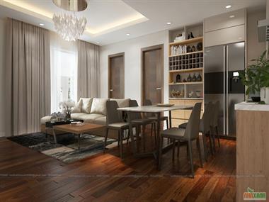 Thiết kế nội thất chung cư Imperia Garden 112,3m2 - căn 3 phòng ngủ mới nhất