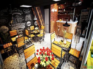 Thiết kế nội thất quán cafe Mỹ Đình