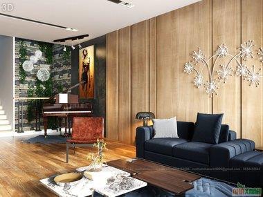 Thiết kế nội thất nhà lô phố với không gian mở