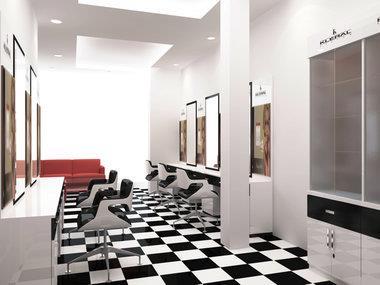 Thiết kế nội thất salon tóc hiện đại