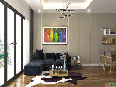 Thiết kế nội thất chung cư Imperia Garden căn xx06 80,8m2 tòa C