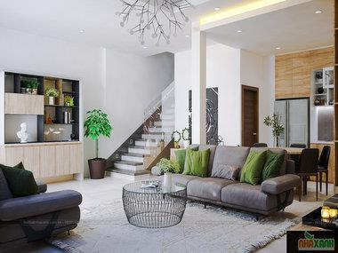 Thiết kế nội thất nhà lô Gia Lâm phong cách cá tính và trẻ trung vô cùng ấn tượng