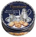 Bánh quy Copenhaghen hộp tròn màu xanh