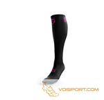 Tất Otso Multisport Recovery - Black / Fluo Pink