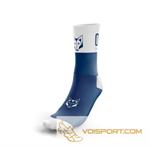 Tất Otso Multisport - ELECTRIC BLUE & WHITE - Cổ trung (OSEb/Wm)