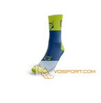 Tất Otso Multisport - ELECTRIC BLUE & FLUO YELLOW - Cổ trung (OSEb/Fym)