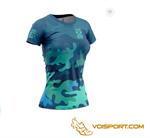 Áo ngắn tay Otso - CAMO BLUE - Nữ (OShCambF)