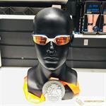 Kính bơi Michael Phelps MP mắt gương viền trắng cam