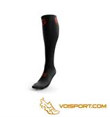 Tất Otso Multisport Recovery - Black / Fluo Orange