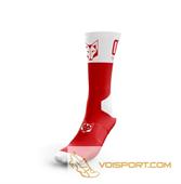 Tất Otso Multisport - RED & WHITE - Cổ cao (OSR/Wh)