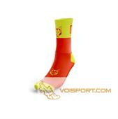 Tất Otso Multisport - FLUO ORANGE & FLUO YELLOW - Cổ trung (OSFo/Fym)