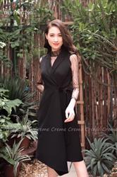 Váy cổ vest