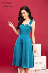 Váy xòe trơn màu