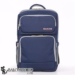 Balo laptop Sakos Prima xanh navy