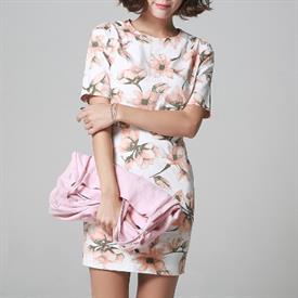 [Its] Váy hoa dáng chữ A ( HS-10592 Pink Flower Onepiece )